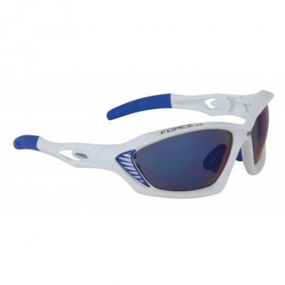 brýle FORCE MAX bílé, modrá...